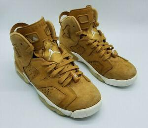 Nike Air Jordan 6 Retro BT Boy's Sneakers Golden Harvest 384667 705 Size 7Y