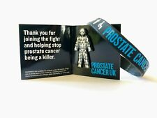 Brand New Prostate Cancer UK #MenWeAreWithYou Pin Badge and Wristband