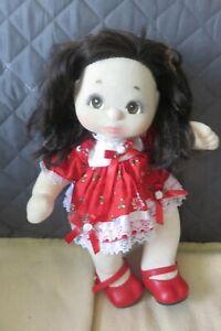 YX bruns, BRUNE CHVX LGS poupée MY CHILD MON ENFANT 1985 avec ses habits