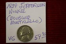 1939 Jefferson Nickel - VG (DOUBLED MONTICELLO)