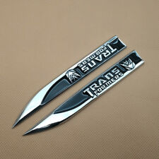 2Pcs Car Emblem Metal Black Transformers Decepticon Logo Knife Side Fender Badge