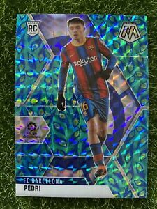 2020-21 Mosaic Soccer LaLiga T-Mall Choice Peacock PEDRI RC Rookie Barcelona