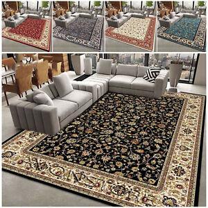 Traditional Oriental Design Rug Silk look Living Room Carpet Rug Runner Non Slip