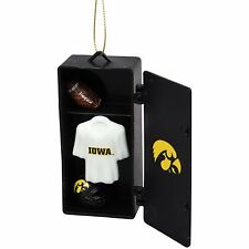 IOWA Hawkeyes football Locker Ornament w/ helmet, jersey and ball - New!