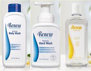 Melaleuca Renew Skin Therapy Set. Body Wash 355ml&Hand Wash 237ml&Bath Oil 118ml