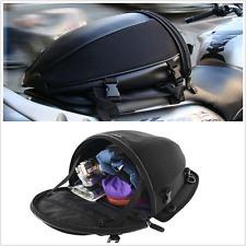 1Pcs Motorcycle Bike Sports Back Seat Bag Luggage Waterproof Tail Bag Saddlebag