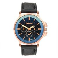 Luxury Men Women Multi-functional Watch Quartz Wrist Watch PU Leather Wristwatch