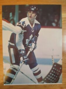 Official 1973 NHL Game Action PAUL HENDERSON No. 19 TORONTO MAPLE LEAFS Poster