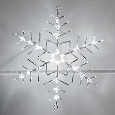 LED Acryl Schneeflocke 40cm Weihnachts Schneestern außen Beleuchtung Strom