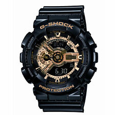 New G-SHOCK GA110GB-1A G Shock Gold and Black Resin Watch