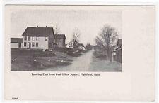 Street Scene East From Post Office Square Plainfield Massachusetts postcard