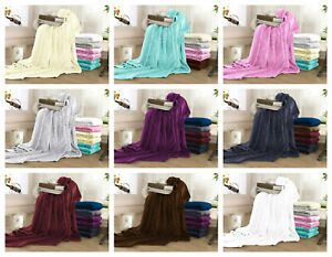 Luxury Super Soft Flannel Fleece Reversible Blanket Lightweight Bed Warm Blanket