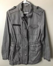 Rubbish Women's Jacket Military Utility Zip Up Nordstrom Cotton Gray Size S