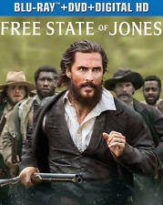 The Free State of Jones (Blu-ray Disc, 2016, Includes Digital Copy UltraViolet)