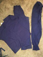 Lot Of Navy Blue Scrubs Size Small Pants Shirt Medical, Life, Ws fundamentals