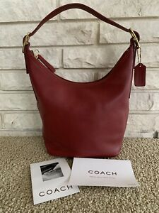 NWT New Vintage COACH Legacy West 9823 Red Leather Shoulder Hobo Handbag Bucket