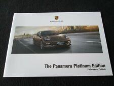 2013-2014 Porsche Panamera & 4 Platinum Edition Sp Brochure Final Sales Catalog