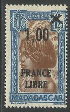 "MADAGASCAR 1943 YT 259** - SURCHARGE ""FRANCE LIBRE"""