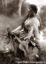 Gypsy Woman with a Guitar - Historic Photo Print