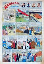Mandrake the Magician by Phil Davis - full tab page, 3rd Sunday! - Feb. 17, 1935