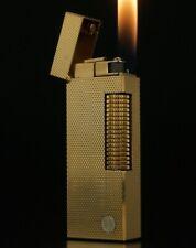 GENUINE VINTAGE DUNHILL BARLEY D DESIGN ROLLAGAS GOLD-PLATED CIGARETTE LIGHTER