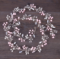 Bridal Headband Pearl Crystal Wedding Women Jewelry Tiara Hair Band Decoration