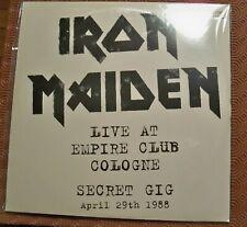 "IRON MAIDEN ""LIVE AT EMPIRE CLUB COLOGNE SECRET GIG APRIL 29th 1988 "" DOUBLE LP"