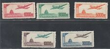 China 1951 - Mint stamps issued without gum. Mi nr.: 95-99. Mv-4135