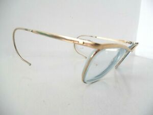 Vintage Unisex ALGHA 20 Gold Square Eye Glasses/ Spectacles Made in England