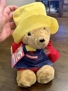 "Vtg Paddington Sears Craftsman Tools 15"" Plush Stuffed Teddy Bear Animal New NWT"