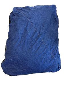 Carhartt Durable Canvas Dog Bed, Premium Pet Water-Repellent Washable Denim Blck