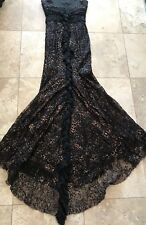 NEW Adolfo Dominguez Costura Lace Trim Animal Print Gown SZ38 Evening Gown $780