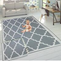 Grey Mat Kids Children Living Room Play Yoga Gym Exercise Gym Fitness Rug Carpet