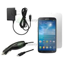 "Wall+Car Charger+LCD Screen Protector for Phone Samsung Galaxy Mega 6.3"" 50+SOLD"