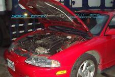 95-99 Mitsubishi Eclipse Eagle Talon Silver Carbon Strut Lift Hood Shock Damper