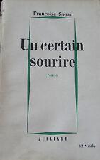 Françoise Sagan - Un certain sourire - 1956 - première édition
