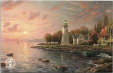 Postcard Thomas Kinkade Studios Serenity Cove Painting Official Logo