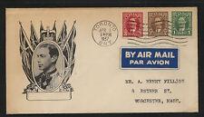 Canada cachet cover 1937 Kel0416