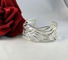 Sterling Silver 38g Vine Design Cuff Bracelet Cat Rescue