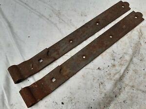 Vintage strap hinge x2,  barn door/gate hinge NOS