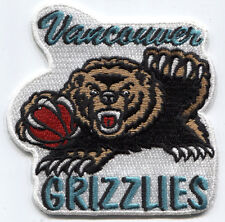 "1995-2000 VANCOUVER GRIZZLIES NBA BASKETBALL 3.5"" DEFUNCT TEAM LOGO PATCH"