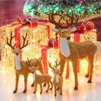 New Year Christmas Plush Toy Simulation Reindeer  Xmas Tree Home Decor Ornaments