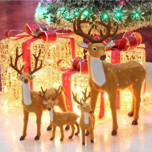 Plush Christmas Reindeer Standing Xmas Simulation Elk Deer Doll New Year Gifts