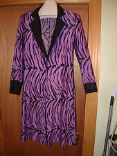 MICHI PURPLE & BLACK ZEBRA STRIPE LONG BLAZER COAT; Stage Costume Rock Glam Punk