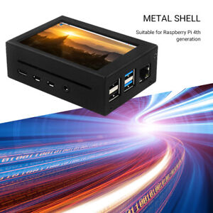 Metal Protective Case with Cooling Fan LCD Screen Display for Raspberry Pi 4  GE