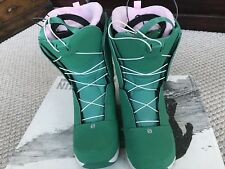 2014 Salomon Ivy Snowboard Boots Women's size 7.5 Clover Green Light Grey