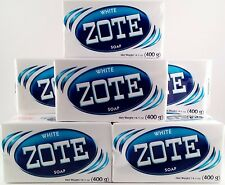 Zote White Blanco Laundry Soap 14 oz Bar 400g Lot of 8 JABON Prepper FRUGAL DIY
