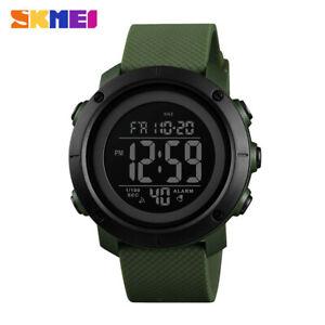 SKMEI Men Military Sports Watch Chrono LED Digital 50m Waterproof Wristwatch DE