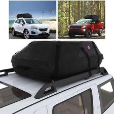 Car Cargo Roof Top Carrier Bag Rack Storage Luggage Waterproof Rooftop Black