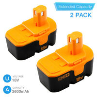 2-New Replace for Ryobi 18v Battery 3.6Ah Ni-Mh One Plus P100 P101 ABP1801 13022